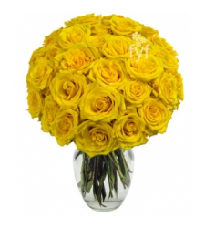 18 Yellow Roses  Online Order to Cebu Philippines