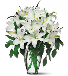 12 Stalks White Perfume lilies  Online Order to Cebu Philippines