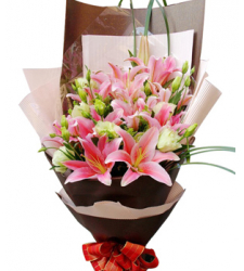 4 Stems Pink lilies  Online Order to Cebu Philippines
