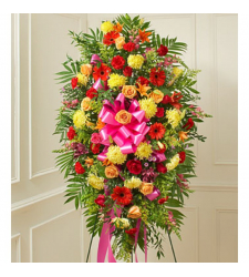 Red,Yellow Color Standing Flowers Spray Online Order to Cebu Philippines