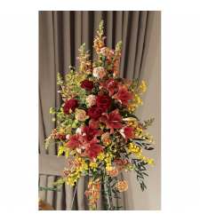 Orchids, Snap dragons, leather fern, Ruscus, Salal & Roses Online Order to Cebu Philippines