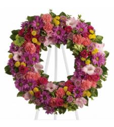 Send Bright Summery Wreath To Cebu