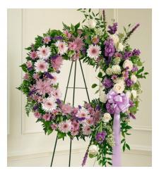 Send Luxurious Purple Wreath To Cebu