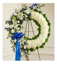 Send Artistically Designed Wreath To Cebu