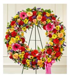 Send Beautiful Blooms Wreath To Cebu