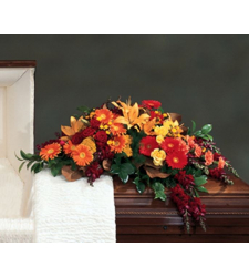 Send Autumn Flowers Casket Spray To Cebu
