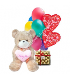 send teddy bear chocolate with balloon to cebu in philippines