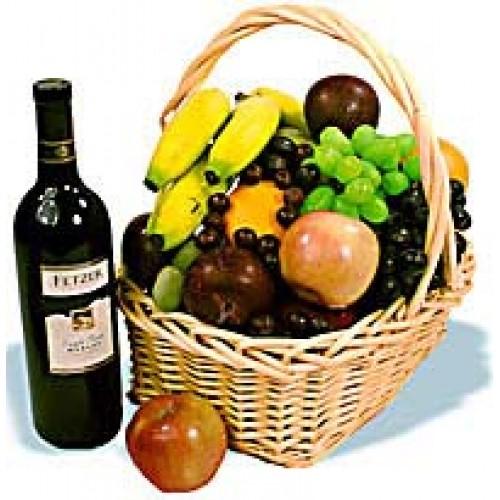 christmas fruits wine basket send to cebu city