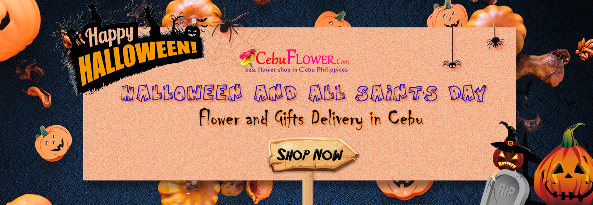 send halloween & all saints day flower and gifts to cebu