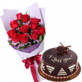 flowers with cake to buy online to cebu