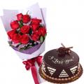 flowers with cake to buy online to cebu