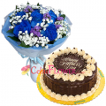 send fathers day flower with cake to cebu