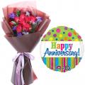 Send Anniversary Flower with Balloon to Cebu Philippines