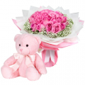 send flower with bear in cebu