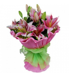 3 stem lilies in bouquet to cebu