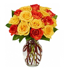 Yellow & Orange Rose Bouquet  Online Order to Cebu Philippines