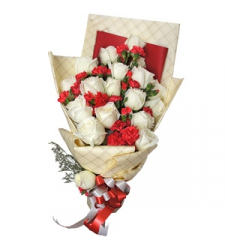12 White Roses Bouquet Send to Cebu