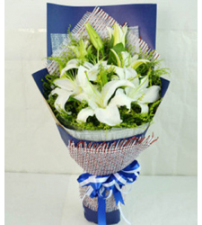 4 Stems White lilies  Online Order to Cebu Philippines