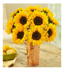 12 Stems Sunflower in a Vase to Cebu Philippines