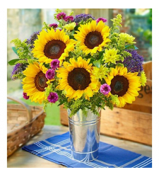 5 Yellow Sunflower Online Order to Cebu Philippines,Flowers to Cebu Philippines