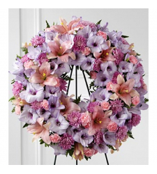 Send Shades of Lavender Wreath To Cebu