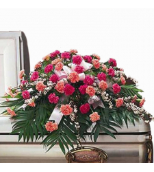 Send Colorful Carnation Casket Spray To Cebu