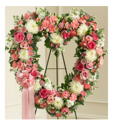 Send Shades of Pink Heart Wreath To Cebu