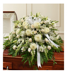 Send Delicate Whites Sympathy Casket Spray To Cebu