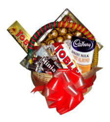 Send Assorted Mix Content Chocolate Basket to Cebu Philippines