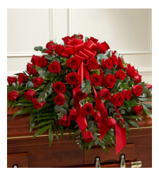 Send Luxurious Red Roses Casket Spray To Cebu