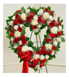 Send Patriotic Heart Wreath To Cebu