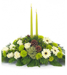 Christmas Flower Centerpiece