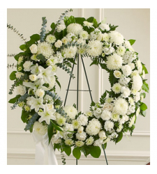 Send Heavenly Whites Wreath To Cebu