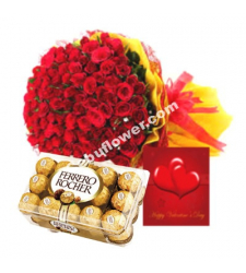 36 red roses & chocolate to cebu