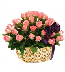 send 24 pink roses in basket to cebu in philippines