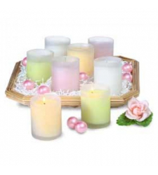 8 Candle Filled Glass Votives to Cebu City