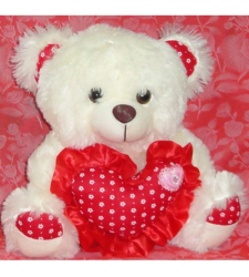 ​Cream Bear with Red Heart to Cebu City