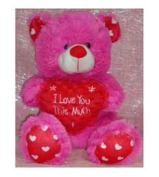 ​Fuschia Pink I Love You Hug Bear to Cebu City
