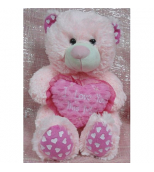 ​Pink I Love You Hug Bear to Cebu City