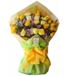 24 yellow roses bouquet delivery to cebu