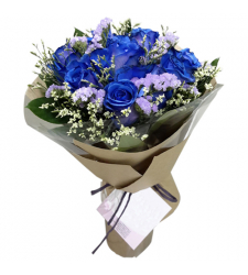 send bouquet of 1 dozen blue roses to cebu