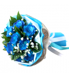 send a dozen of blue roses arrangement to cebu