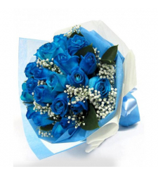 12 blue roses bouquet delivery to cebu