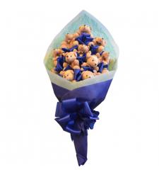 send cute 12 mini size teddy bouquet to cebu
