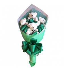 send 4 pcs. mini size teddy bear bouquet to cebu