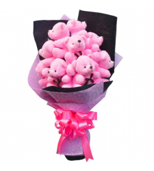 send gorgeous 9 pcs. mini bear bouquet to cebu