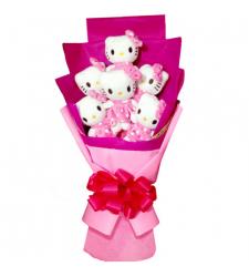 6pcs Cute Hello Kitty Bouquet