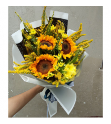 send 3 sunflower and seasonal flower bouquet to cebu