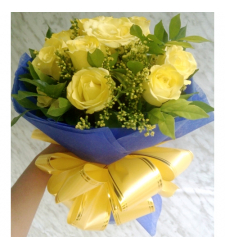 send 12 stems yellow roses bouquet to cebu