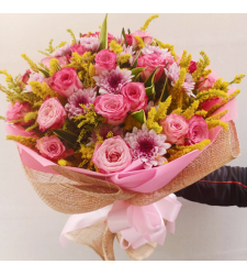 send 2 dozen of fresh pink roses bouquet to cebu